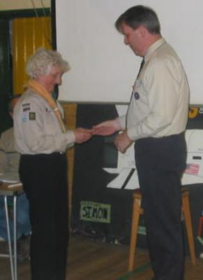 2004 St Georges Day Awards - Sheila Stinton (Raksha) Awarded the Bar to the Silver Acorn