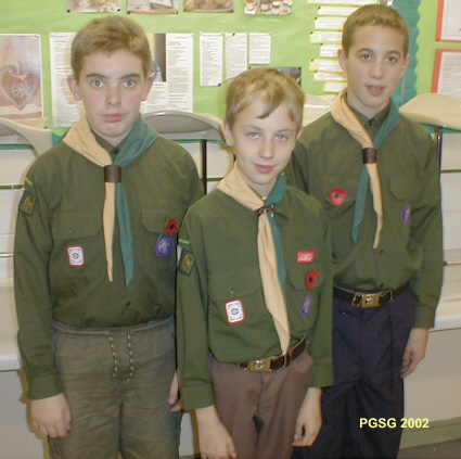 District Chef Cooking Competition 2002 - Well Done even though one Scout forgot the Mince due to his Mum having a baby that morning