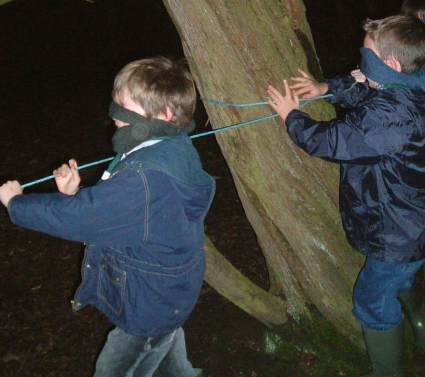Scouts Run Cub Meeting at Half Term on the Green & in the Woods