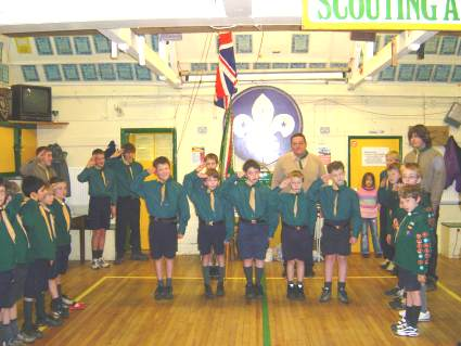 Scout Investiture Wednesday 9th February 2006